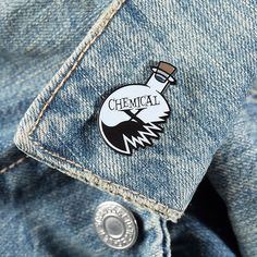 "DRINK UP! POWER UP! Close up shot of ""The Clumsy Professor/Chemical X"" pin! Get…"