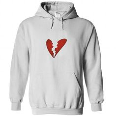 Broken Heart As simple as it gets T Shirts, Hoodies. Get it here ==► https://www.sunfrog.com/LifeStyle/Broken-Heart--As-simple-as-it--White-Hoodie.html?41382