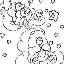 Care Bears sleeping coloring page - Coloring page - CHARACTERS coloring pages - TV SERIES CHARACTERS coloring pages - CARE BEARS coloring pages - CARE BEAR coloring pages