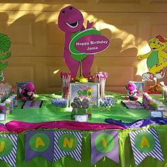 barney Birthday Party Ideas January Barney birthday and Birthdays