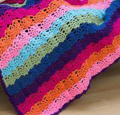 Rainbow View Throw - Free Pattern ... ♥ Deniz ♥: