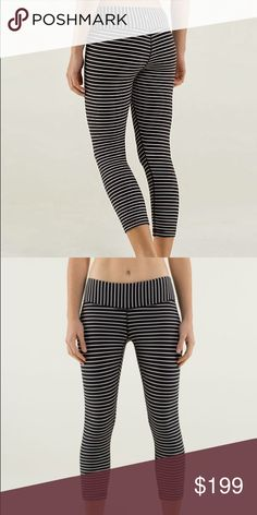 NWT parallel stripe lululemon wonder under crops😍 Super rare BRAND NEW lululemon wunder under crops in parallel stripes. Super rare, highly sought after. Reasonable offers only! Check out my other Lulu for better deals and I do offer a bundle discount!!! lululemon athletica Pants Ankle & Cropped