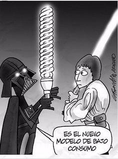 Darth Vader, preocupándose por el futuro del planeta desde los años 70.   22 Chistes que solo los amantes de Star Wars entenderán