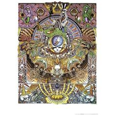 """Grateful Dead Poster that measures 24"""" x 36,"""" with intricate design and detail. One of the great bands of all times. They gave so much to a time and a culture. Respect to Jerry Garcia and the Dead!"""