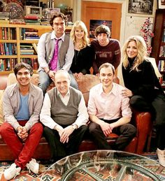 "Cast of ""The Big Bang Theory"" with Bob Newhart,  Congrats to Bob Newhart on his first ever Emmy win with his guest starring role."