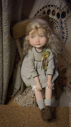 OOAK Art Doll | Купить Мамина умница - бежевый, болтушка, авторская кукла, любить и жаловать, livingdoll, трессы, хлопок