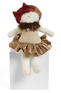 Woof & Poof Linen Party Snowgirl Doll available at #Nordstrom