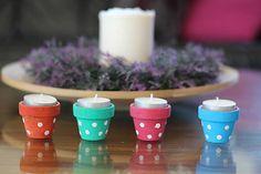 črepníčky na čajové sviečky