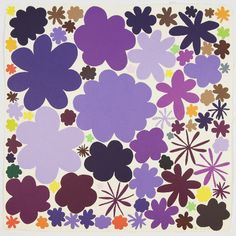 Polly Apfelbaum, Color Field Notes (Purple), 2009, Woodblock print