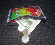 Shop for purse on Etsy, the place to express your creativity through the buying and selling of handmade and vintage goods. Sun Crafts, Diy And Crafts, Capri Sun, Fruit Punch, Change Purse, Our Planet, Recycled Crafts, Scouts, Juice
