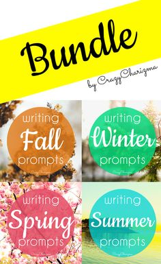 Tons of writing prompts on seasonal topics: fall, winter, spring, summer - 252 cards inside!