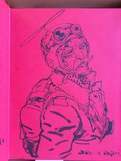 051 - Kim Jung Gi sketch dédicace Character Drawing, Character Illustration, Illustration Art, Character Design, Junggi Kim, Grafik Art, Comic Layout, Portrait Cartoon, Kim Jung