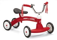 Amazon.com: Radio Flyer 20 Scoot-About Tricycle Tricycle: Toys & Games