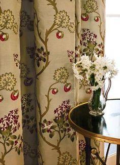 curtain fabric copying antique stumpwork