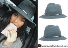 Buy Kylie Jenner's Grey Fedora Hat, here!