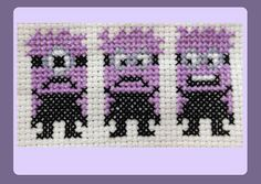 Purple Minions Cross Stitch Pattern (Instant Download)