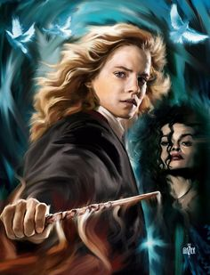 HARRY POTTER Portrait: Hermione by Garth Glazier, via Behance