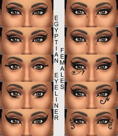 10 Egyptian Eyeliners by Simmiller at Mod The Sims