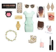 """""""Easter"""" by ahaughey on Polyvore featuring H&M, Glamorous, Casetify, Fendi, Irene Neuwirth, Charlotte Russe, Lacoste, Charlotte Tilbury, Essie and Forever 21"""