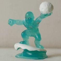 S68 Marvel Beast Super Hero Squad Clear Iceman Figure Rare | eBay