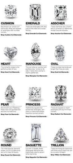 Shop diamonds by shape with tips from the Overstock.com Diamond Buying Guide #diamondring #ring #rings