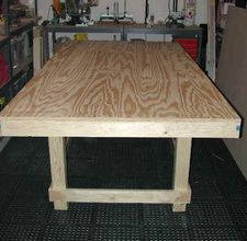 Simple plywood table