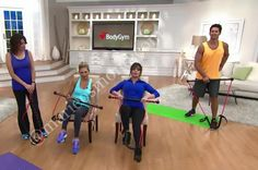 Sandra Bennett, Mindy Buxton, Marie Osmond & TJ Buxton at QVC with the Body Gym