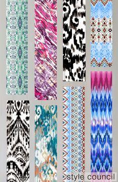 The Style Council : Ikat Pattern Bank, Ikat Pattern, The Style Council,  Pattern