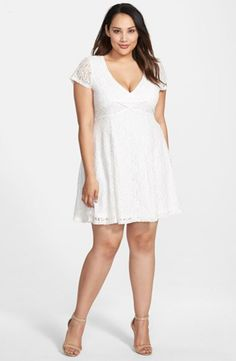 Plus Size Women's Jessica Simpson 'Kaitleen' Lace Fit & Flare Dress,