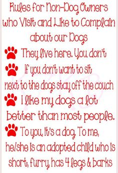 Rules for NonDog owners by K7KB on Etsy, $18.00