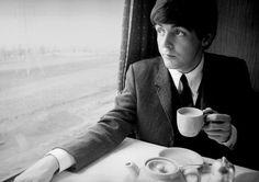 Tea on the train with Paul McCartney...