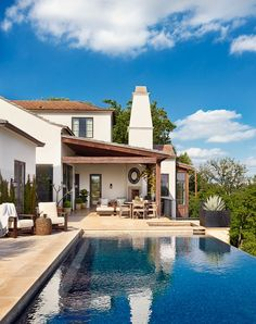 Our terrace & pool, photographed by Casey Dunn for Austin Home.