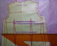 Escuadra la línea de cintura en el delantero Tela, Sewing Patterns Free, Dress Patterns, Sewing Techniques, Sewing Tutorials