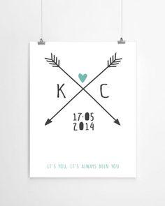 Gepersonaliseerde love-print met initialen van PrintCandy, LEUK!