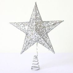 Christmas Tree Toppers Sparkle Hollow Xmas Stars Golden/Silver Star Treetop Decoration Ornaments >>> Additional info  : Garden Christmas Decorations