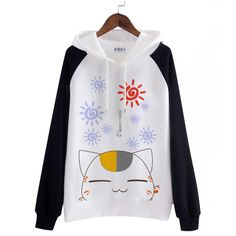 Japanese cartoon cat kawaii hooded sweatshirt