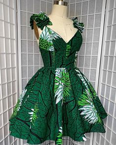 """Today we bring to you """"Prepossessing Ankara Short Gowns."""" Ankara styles are tempting because of it's beautiful and outstanding styles. These Ankara shorts are cool. African Dresses For Kids, African Prom Dresses, African Inspired Fashion, Latest African Fashion Dresses, African Print Fashion, Ankara Gowns, African Dress Designs, Ankara Dress Styles, Ankara Fashion"""