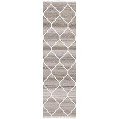 "Safavieh Natural Kilim Collection NKM317A Handmade Light Grey and Ivory Wool Area Runner, 2 feet 3 inches by 6 feet (2'3"" x 6') Safavieh http://smile.amazon.com/dp/B00IXCUG38/ref=cm_sw_r_pi_dp_JyK3vb0SCH9QD"