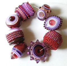 More Eye Candy – Lampwork Beads by Sarah Moran of Z-Beads
