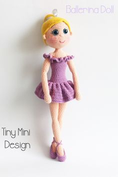 Free Ballerina Doll amigurumi crochet pattern by Tiny Mini Design! Pattern is in Turkish but the English translation is further down the page. Crochet a beautiful little rag doll styles amigurumi ballerina that any little girl will love! Pattern More Patterns Like This!