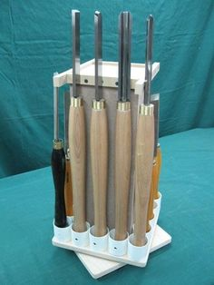 Lathe Tools Revolving Storage Tower - by Bricofleur @ LumberJocks.com ~ woodworking community