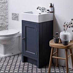 Traditionally designed compact freestanding vanity unit Choice of 5 finishes - Vanilla, Mocha, Slate Grey, Pewter & Chalk White Ceramic basin comes with 1 pre-drilled tap holeBeautiful tongue and groove effect side year manufacturer guarantee Cloakroom Toilet Downstairs Loo, Cloakroom Vanity Unit, Freestanding Vanity Unit, Small Bathroom Sinks, Bathroom Ideas, Bathroom Inspiration, Cloakroom Ideas, Cloakroom Basin, Bathroom Makeovers