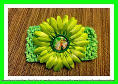Tinkerbell Pixie Dust Inspired Bottle Cap Hair Bow by iguania03, $5.79