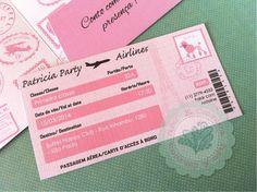 Convite Passaporte Paris   Paper K. Conviteria   Elo7