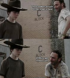 The 19 Greatest Dad Jokes From Rick Grimes... word f warning... if you're drinking something, swallow... this is very spit take worthy...
