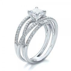 Custom Pave Diamond Multi-Band Engagement Ring