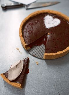 Chocolate and Strawberry Jam Tart by Sweeteeth Chocolate | Design Sponge