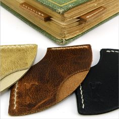 Our handcrafted camel leather bookmark corners are a unique way to save your spot in your book. Now they ship free!  Each one of these bookmark corners are handmade from mindfully-sourced chemical-free camel leather (softer but stronger than cow leather). Easily keep your place by slipping it on the corner of the page and close the book. Page saved!  They are named after Al-Mutanabbi often considered one of the greatest poets in the Arabic language.