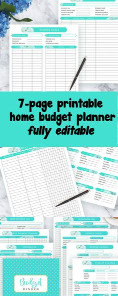 Printable budget planner that you can type in, I love this!