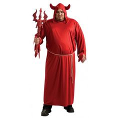 Disfraz de Lucifer Rojo para hombres y mujeres. Halloween Red Lucifer costume for women and men.